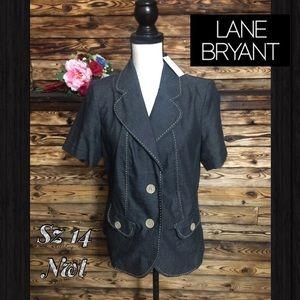 NWT! Lane Bryant Short Sleeved Jacket Blazer💥14